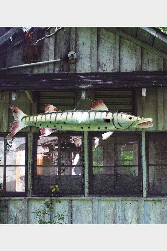giant painted metal barracuda
