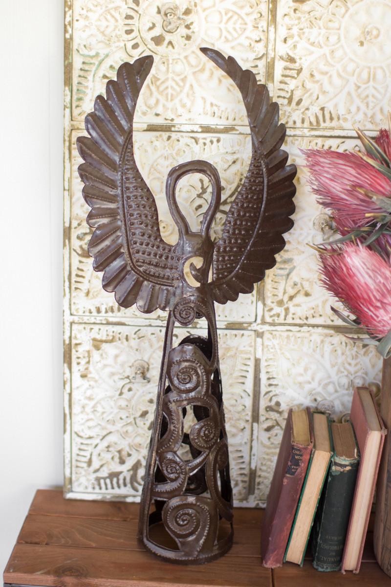 hand hammered metal angel
