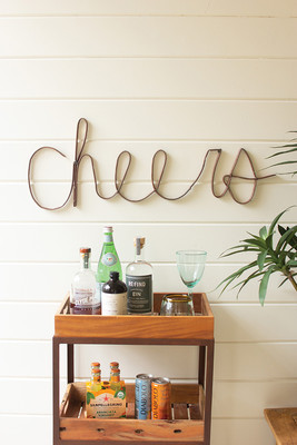 Scrap Iron Cheers Wall Décor