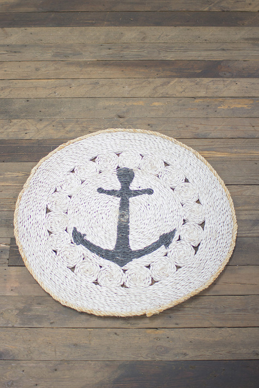 round mat with anchor