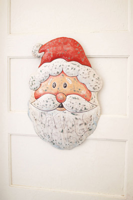 Jolly Metal Santa Door Hanger