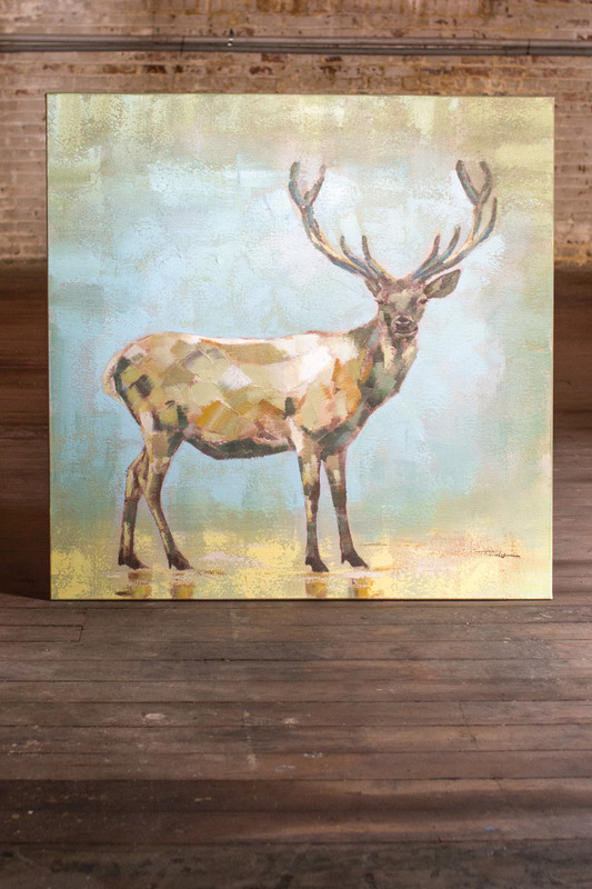 oil painting buck