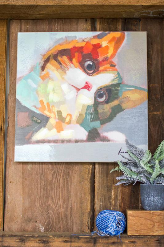 oil painting cat