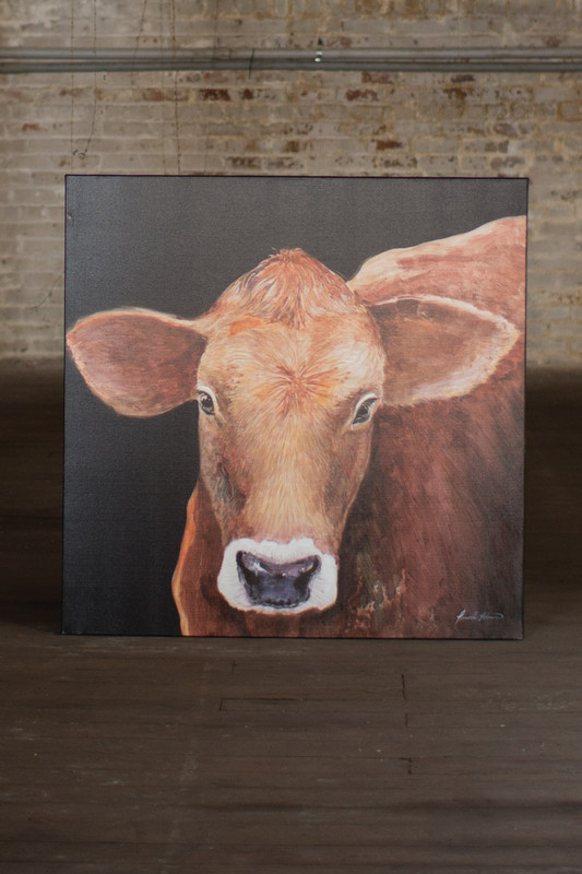 oil painting agnes the calf