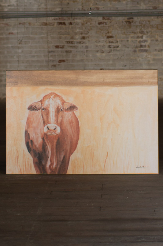 oil painting mama cow
