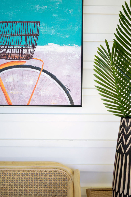 Beach Cruiser Bicycle Oil Painting