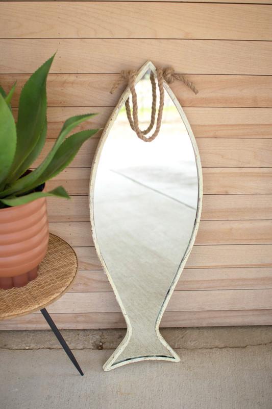 vertical fish mirror