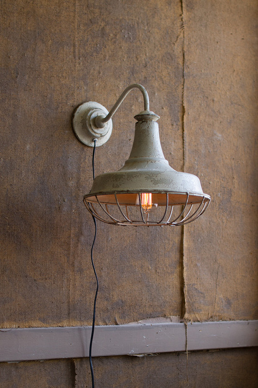 WALL SCONCE LAMP W/ CAGE
