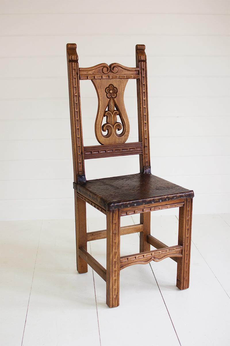 Reclaimed Dining Chair   Fleur De Lis