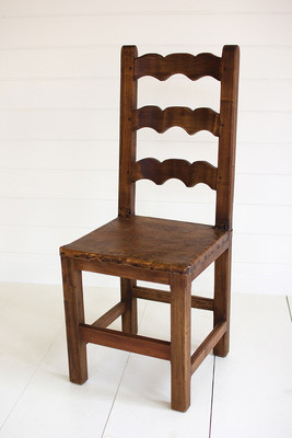 reclaimed dining chair - scalloped back