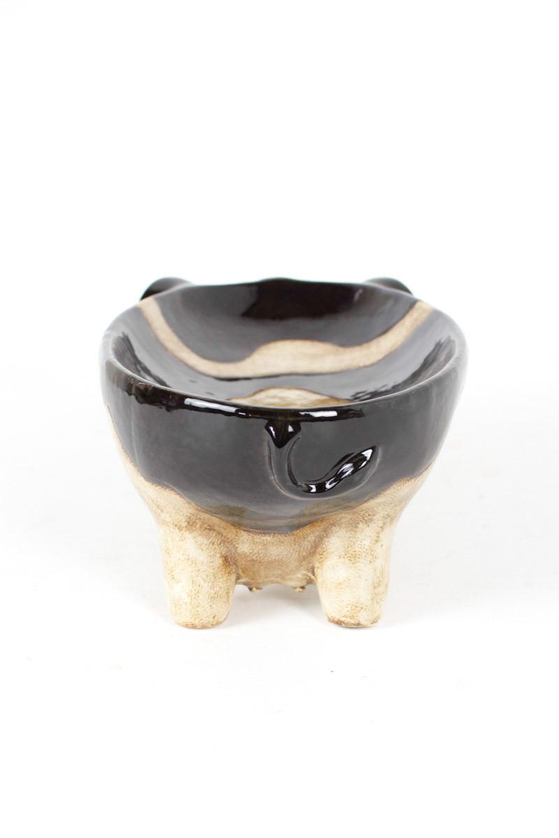 Black And White Ceramic Cow Bowl