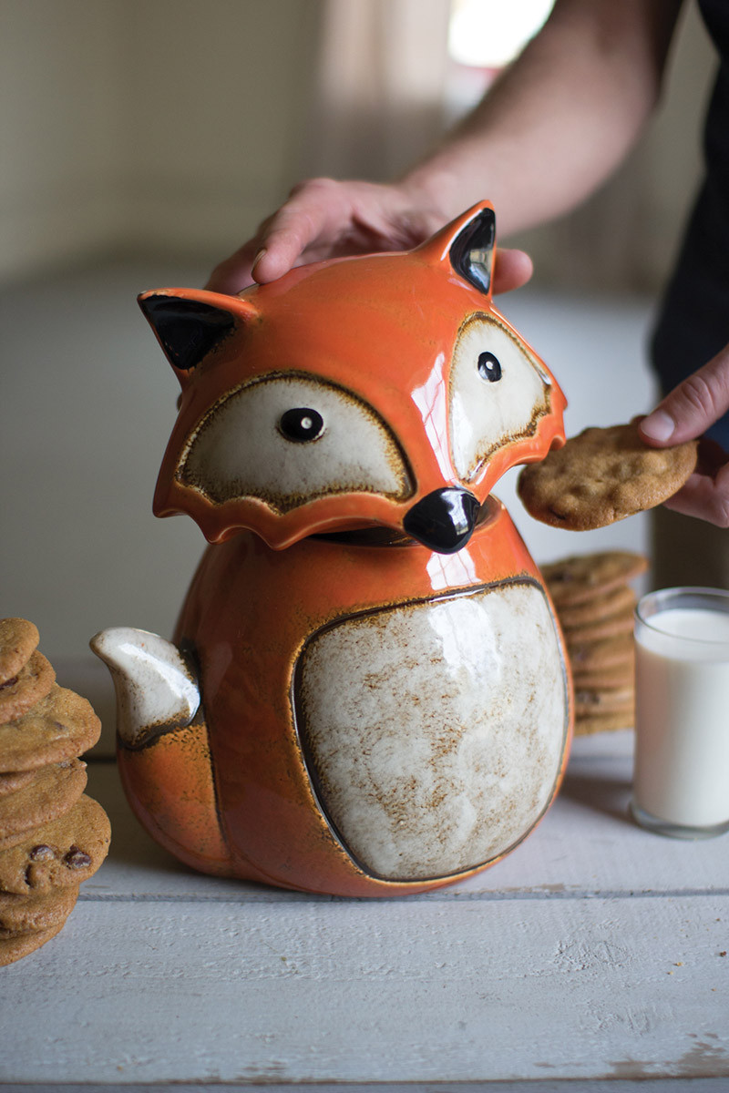 ceramic fox canister
