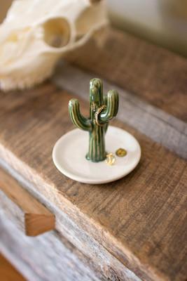ceramic cactus jewelry holder