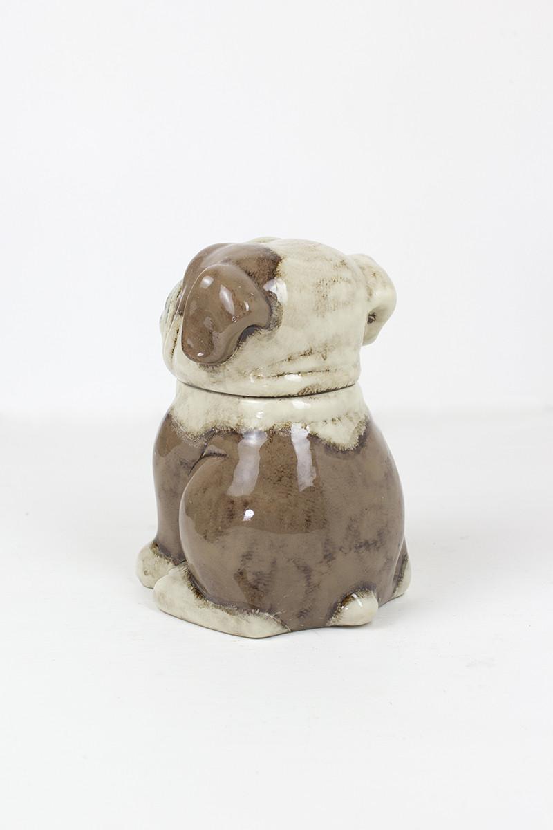 ceramic bull dog canister