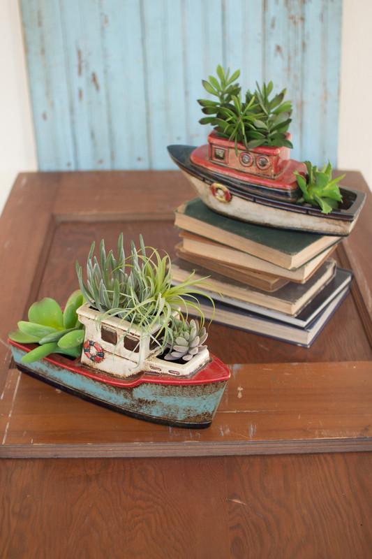 ceramic boat planters