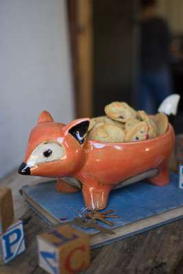 ceramic fox bowl