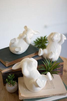 ceramic rabbits