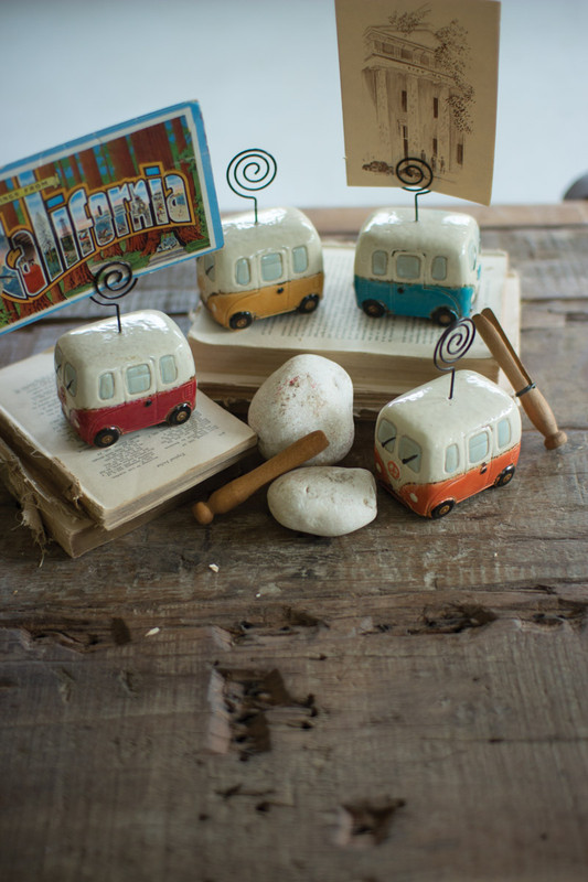 ceramic van place card holders