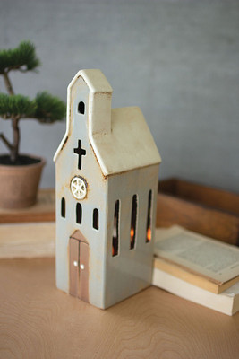 Peaceful Ceramic Church Night Light