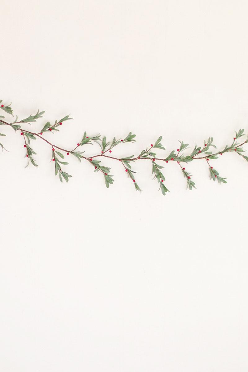 artificial mistletoe garland