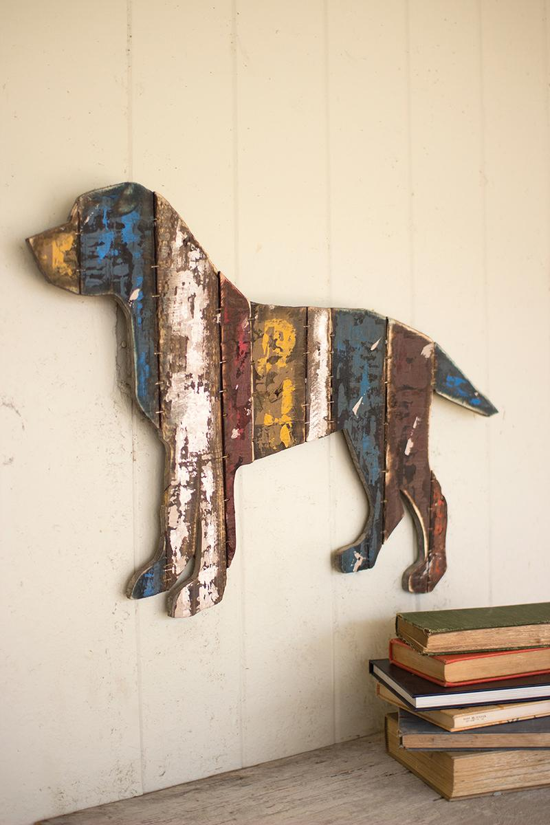 Attractive Wood Wall Hanging Art Part - 13: Reclaimed Wood Dog Wall Hanging
