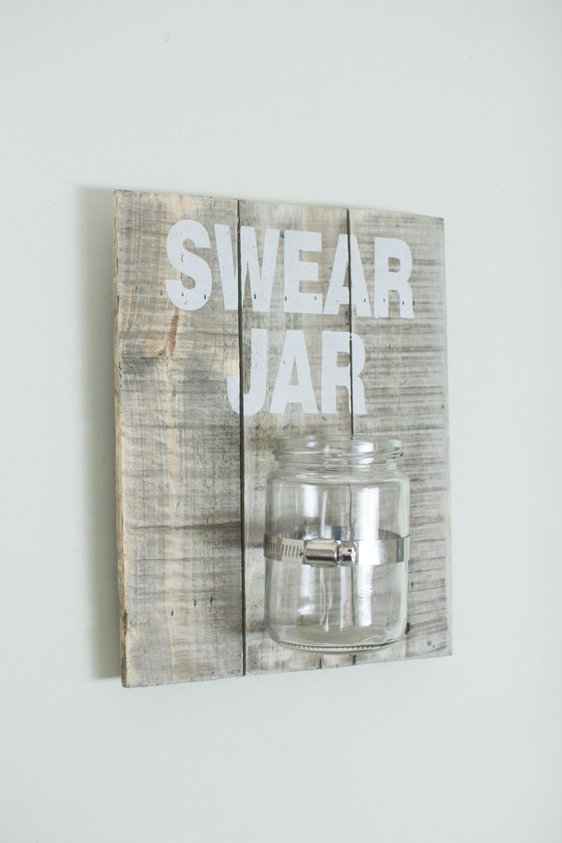 Wooden Wall Hanging Swear Jar Sign