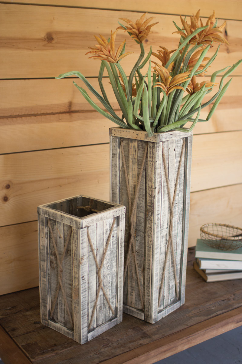 ecycled wooden planters