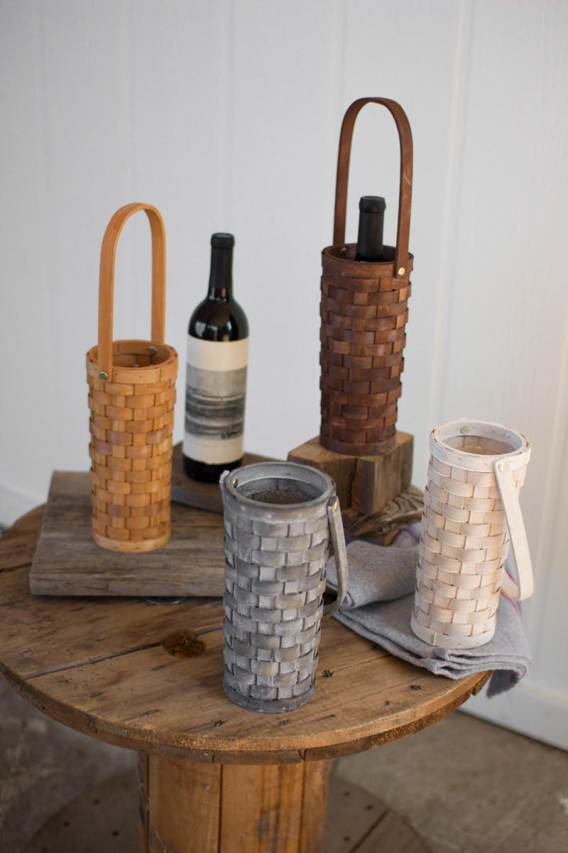 split wood wine baskets