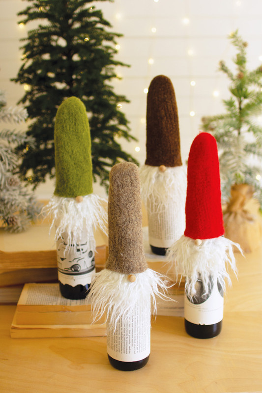 wispy beard santa wine toppers