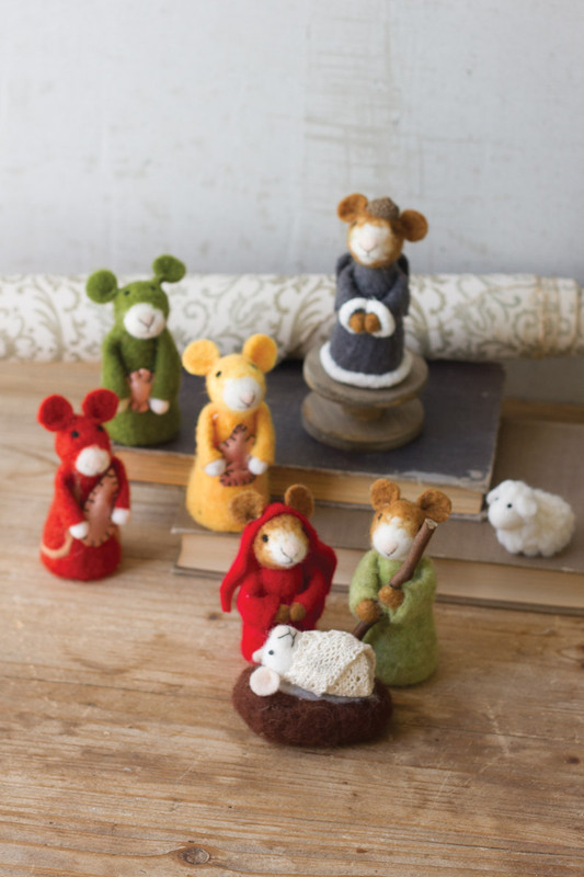 FELT MICE NATIVITY SCENE