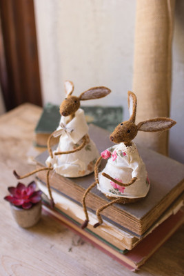 FELT RABBIT SHELF SITTERS