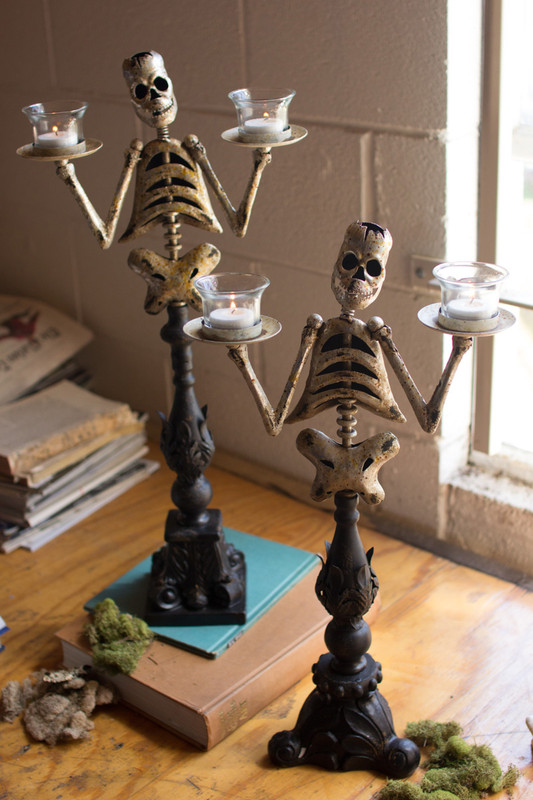 metal skeleton tea light holders