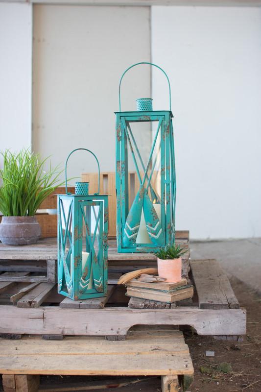blue oar lanterns