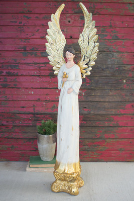 TALL PAINTED ANGEL