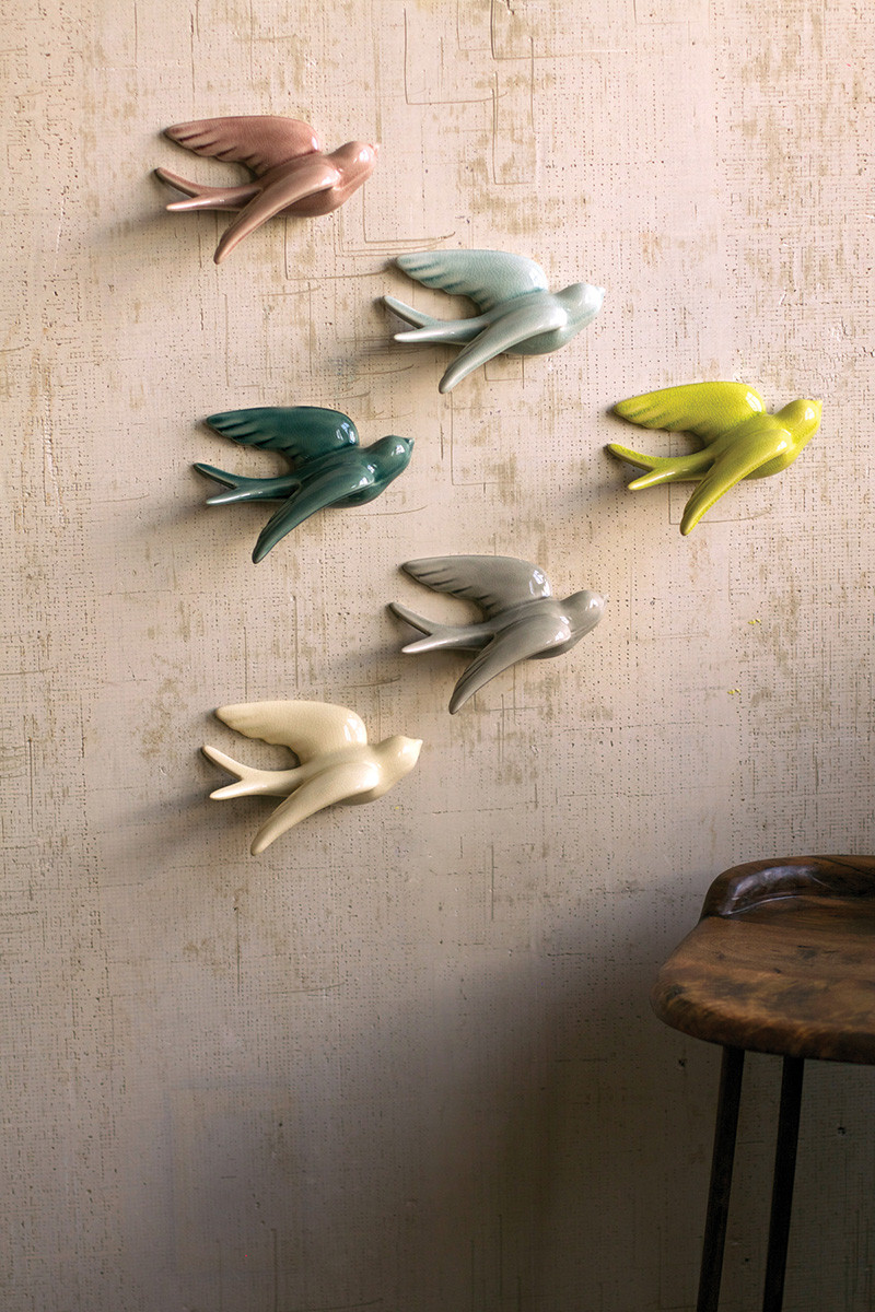 Office Furniture Jackson Ms set of 6 ceramic swallows