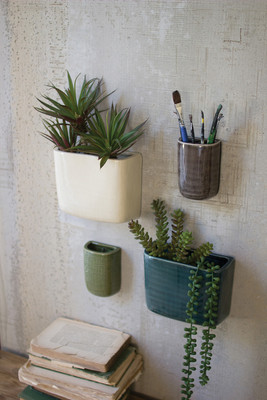 CERAMIC RECTANGLE WALL VASES
