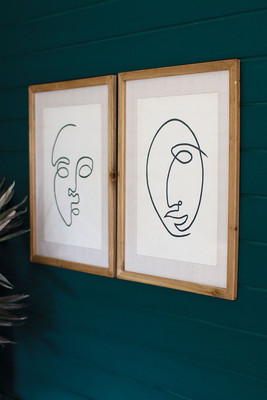 Set of 2 Abstract Face Prints