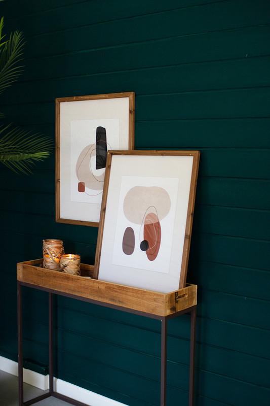 Set of 2 Abstract Organic Multi-Shape Prints