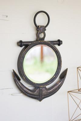 metal anchor mirror