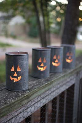 jack-o-lantern tin luminary