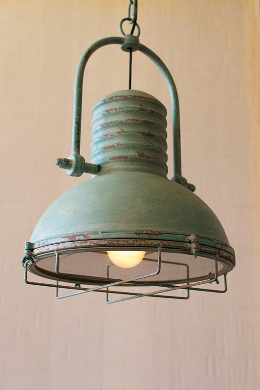 antique turquoise pendant light