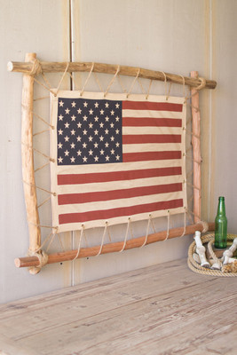 STRETCHED CANVAS AMERICAN FLAG