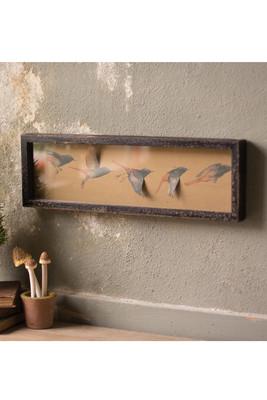 paper flying birds shadow box