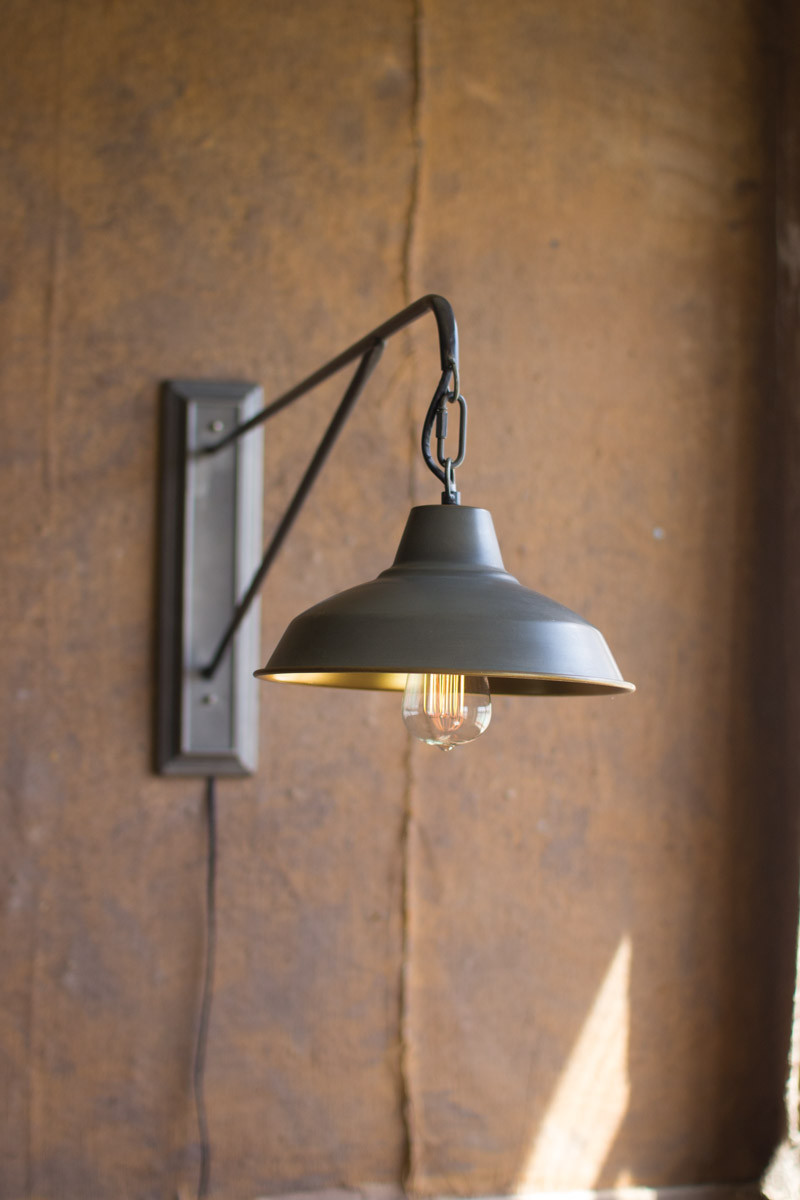 GOOSE NECK WALL LAMP