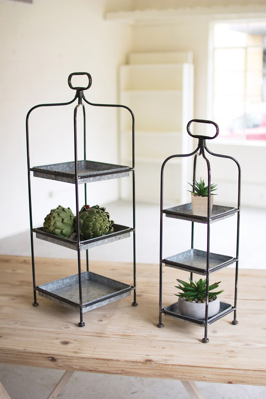METAL DISPLAY STANDS W/ GALVANIZED