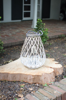 GREY AND WHITE WILLOW LANTERN