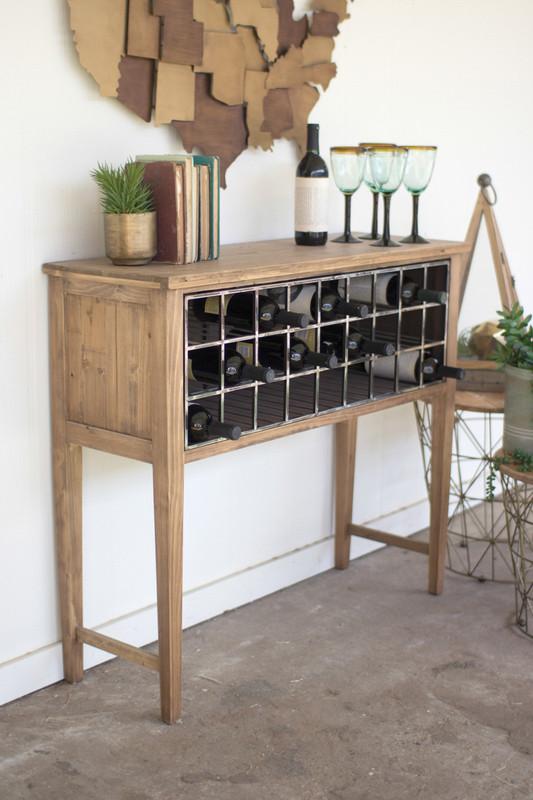 wine rack console