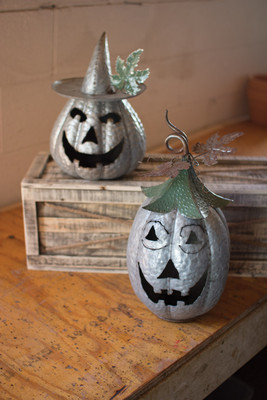 GALVANIZED JACK-O-LANTERNS