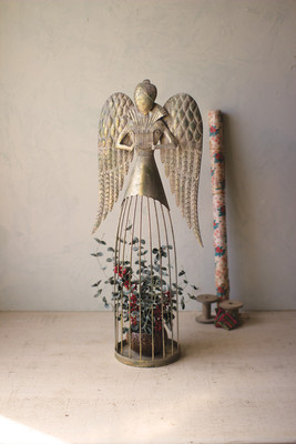 Wire and Metal Garden Angel Topiary