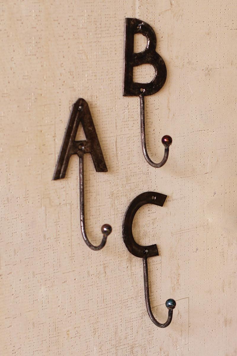 flat metal letter hook q